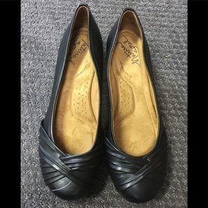Natural Soul black flat shoes Girly style 8